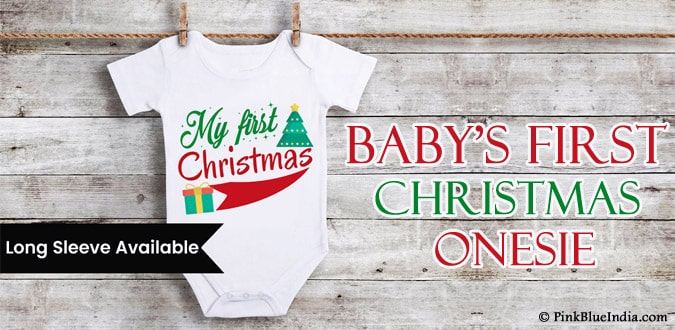 Baby's First Christmas Onesie Personalized Christmas boy girl Outfit
