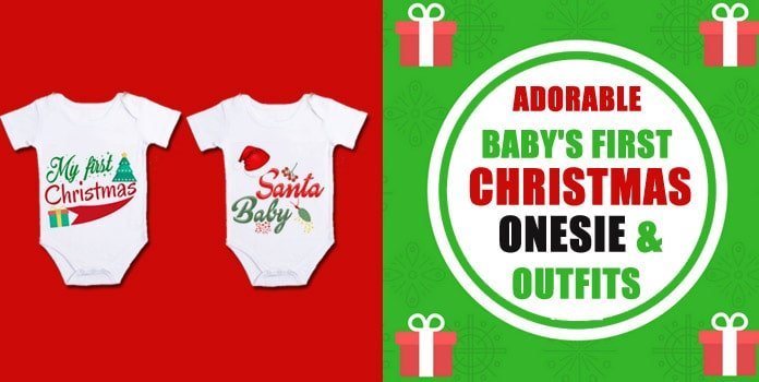 Baby First Christmas Outfits - Newborn Baby Christmas Onesies Romper - Boy and Girl Clothes