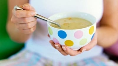 Warm Soup baby sore throat home remedy