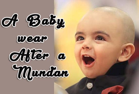Babies wear After a Mundan - Head Tonsure Ceremony Dresses, onesies - Baby return gifts
