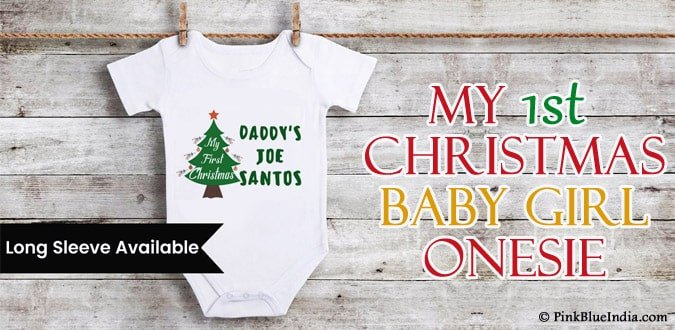 My 1st Christmas newborn Baby Romper - my first christmas onesie Outfit India