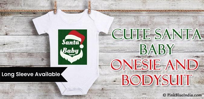 Santa Baby Onesie - Newborn Christmas Bodysuit Custom Outfit