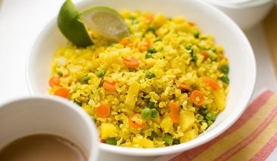Vegetable Poha baby and kids
