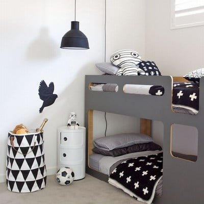 White and Black Room Decor boy