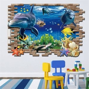 3D Decals for Childrens Bedroom