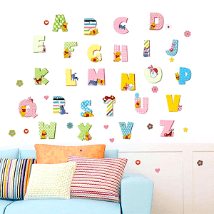 kids Alphabet Wall Stickers - ABCD Decals and Stickers
