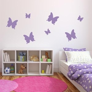 Butterfly Decals for Walls - Decorative Wall Decals for Kids Room