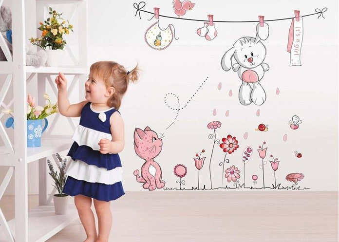 Funny Wall Decals for Kids Room - children Decorative Wall Stickers bedroom