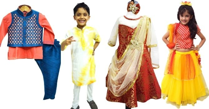 Indian Ethnic Wear Dresses for Baby Girl and Boys New Delhi