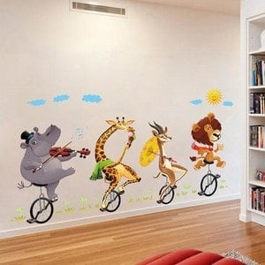 Fun Animal Stickers and Decals kids room