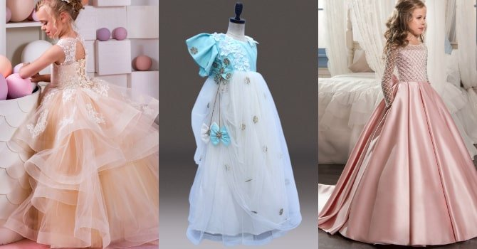 Baby Girl party wear dresses in delhi - Kids party wear gowns