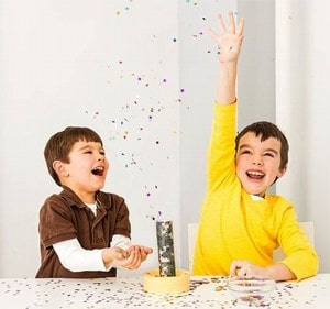 Make Confetti Launchers at Home -  new year Eve for Kids