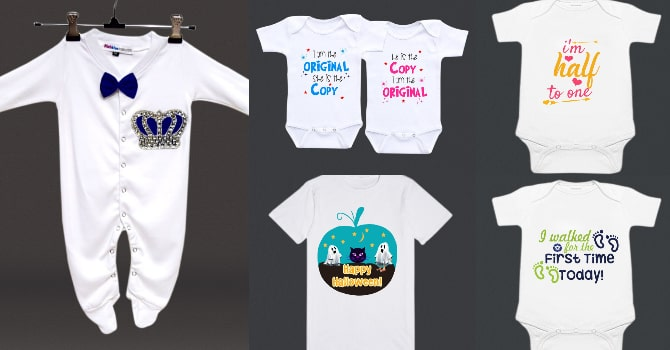 Personalised Baby Clothes in Delhi - Newborn Baby Rompers and Kids T-shirts Online
