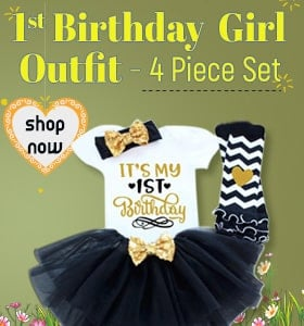 1st Birthday Outfit Girl - tutu Skirt Set