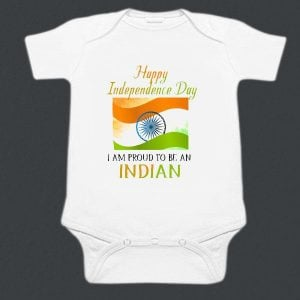 Indian Tri Color Baby Romper - Republic Day Newborn Bodysuit