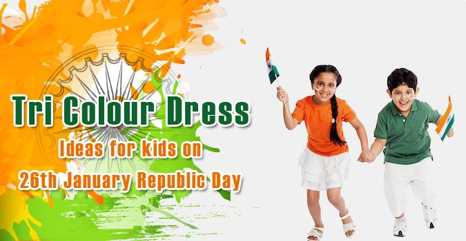 Tri Colour Dress Ideas for kids - 26th January Republic Day Baby Romper