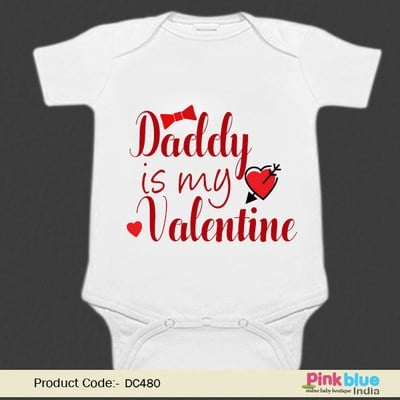 Daddy Is My Valentine Baby Romper - Personalized Valentine Outfit