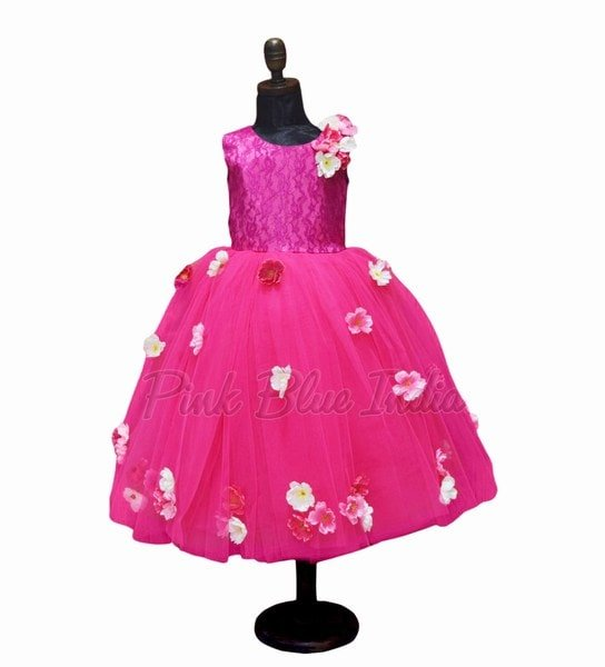 Pink Floral Frock for Babies