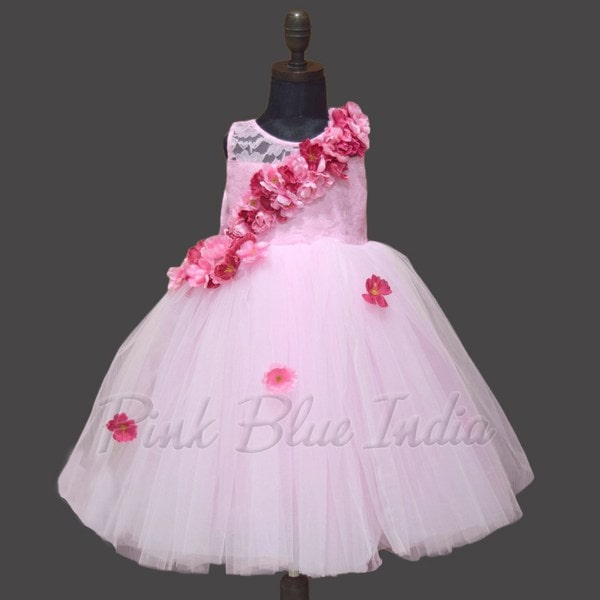 Rose Pink Flower Girl Dresses