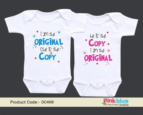 Baby Shower Outfit Gifts for Twins Boy and Girl