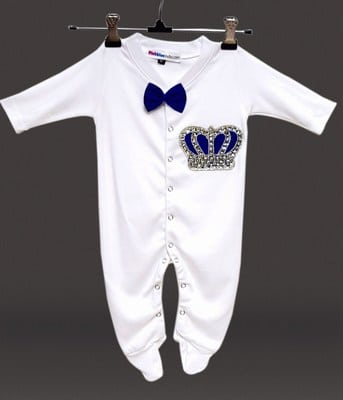 Personalized White 1st Birthday Bodysuit Outfits