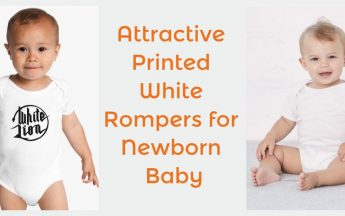 10 Attractive Printed White Rompers for Newborn Babies