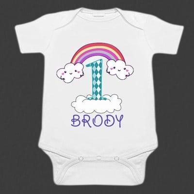 White Funny Baby Romper Style Bodysuit