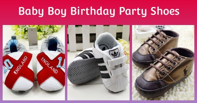 Baby Boy Birthday Party Shoes