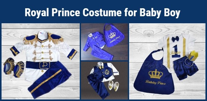 Royal Baby Prince Costume for Boy first 1st Birthday