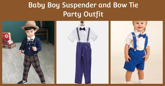 Baby Boy Suspender and Bow Tie Party Outfit