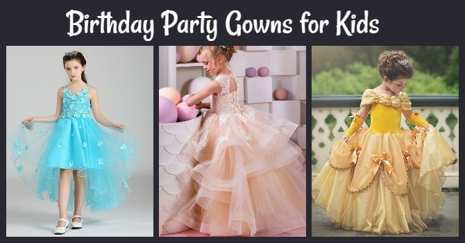 Birthday Party Gowns for Kids