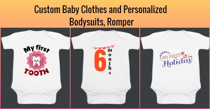 Custom Baby Clothes and Personalized Bodysuits, Romper