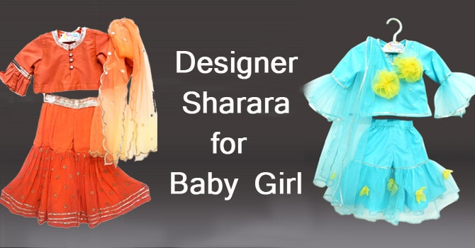 Designer Sharara for Baby Girl