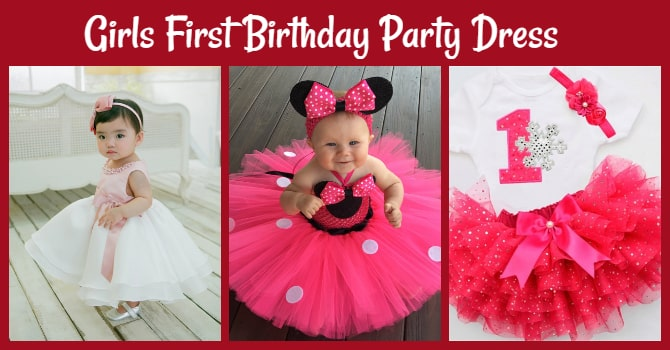 Girls First Birthday Party Dress