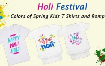 Holi Festival – Colors of Spring T-Shirts and Rompers for kids