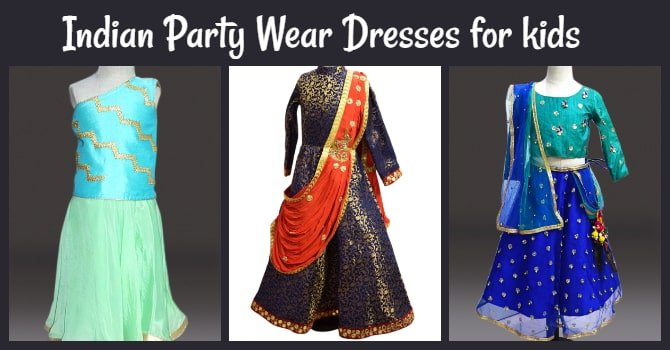 Indian Party Wear Dresses for kids