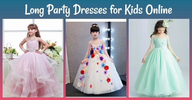 Long Party Dresses for Kids Online