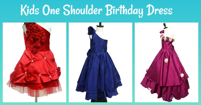 Kids One Shoulder Birthday Dress
