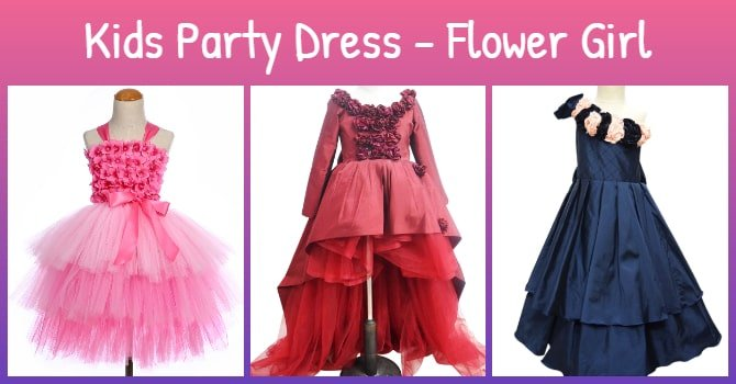 Kids Party Dress - Flower Girl Dress