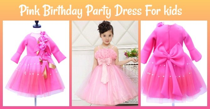 Little Girl Pink Birthday Party Dress