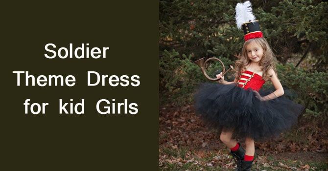 Soldier Theme Dress for Kid - Girls Soldier Fancy Dress