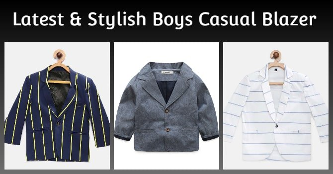 Stylish Boys Casual Blazer Jacket