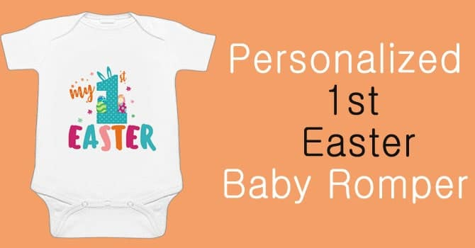 First Easter Baby Romper, Personalized Baby's Easter bodysuit