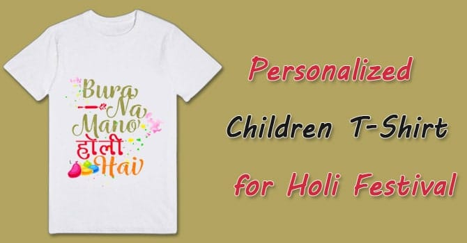 Holi Festival T-Shirts online - Personalized Children T-Shirt