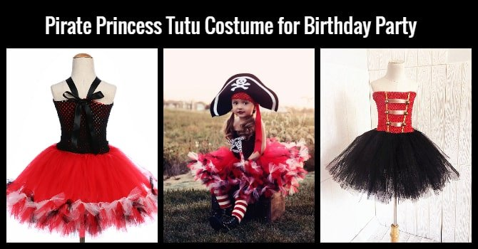 Girl Pirate Princess Tutu Costume Dress
