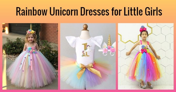 Rainbow Unicorn Dresses, unicorn birthday dress