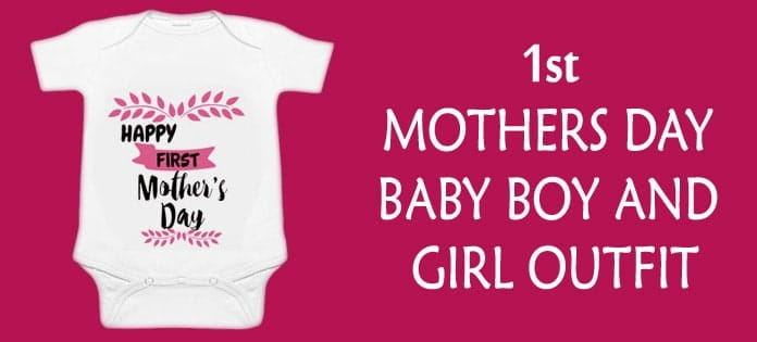 1st Mothers Day Baby Boy Girl Outfit - Newborn Bodysuit