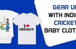 Gear up with Indian Cricket Baby Clothes | Personalised Kids T-shirts
