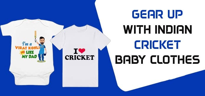 Indian Cricket Baby Clothes, Personalised Kids T-shirts, Baby Romper India