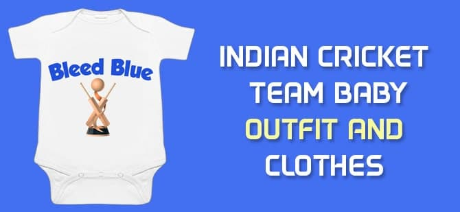 Indian Cricket Team Newborn Baby Outfit, Clothes